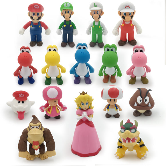 Action Figure Super Mario Bros - Personagens