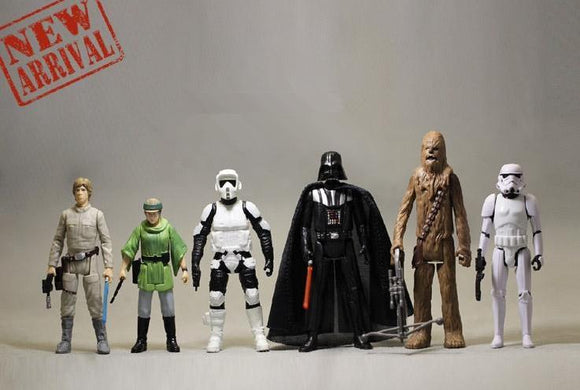 Kit com 6 Action Figure -  Star Wars VI O Retorno de Jedi