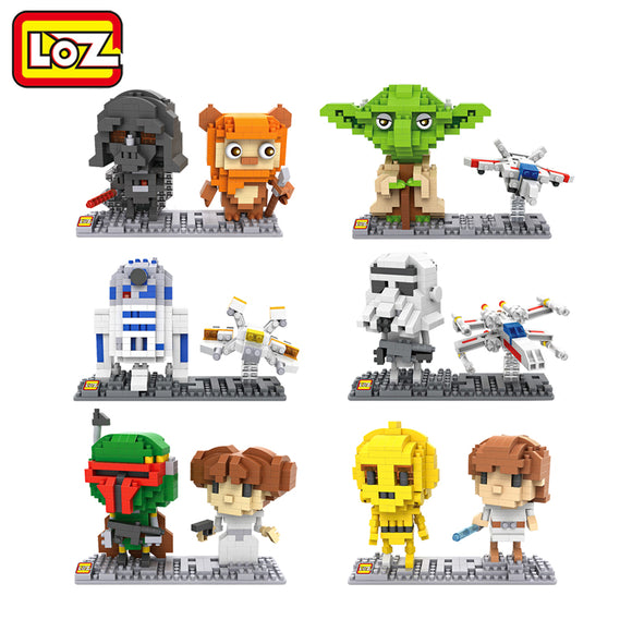 Bloco de Montar (Puzzle 3D) -  Personagens Star Wars - LOZ