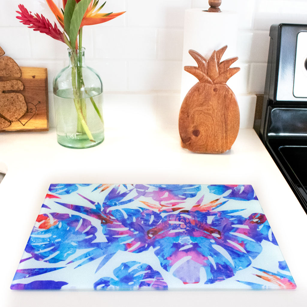 MONSTERA BLUE CUTTING BOARD