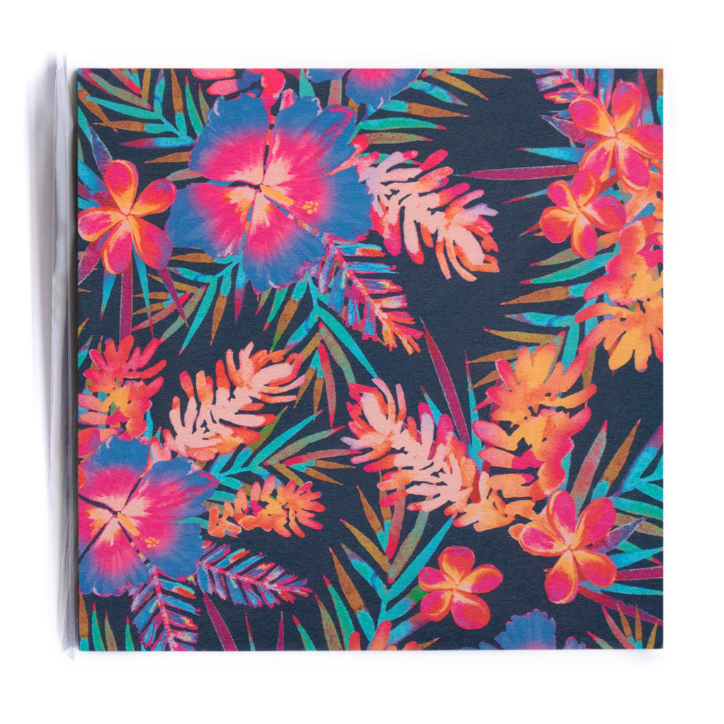 RAINBOW HIBISCUS NAVY NOTECARD PACK