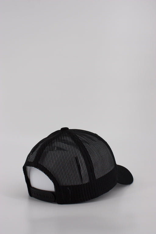 24 Hockey Curved All Black Trucker Hat