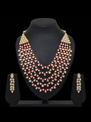 Indian Jewelry - Kundan & Beads Necklace