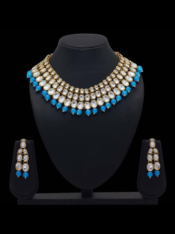 Indian Jewelry - Kundan & Pearl Necklace
