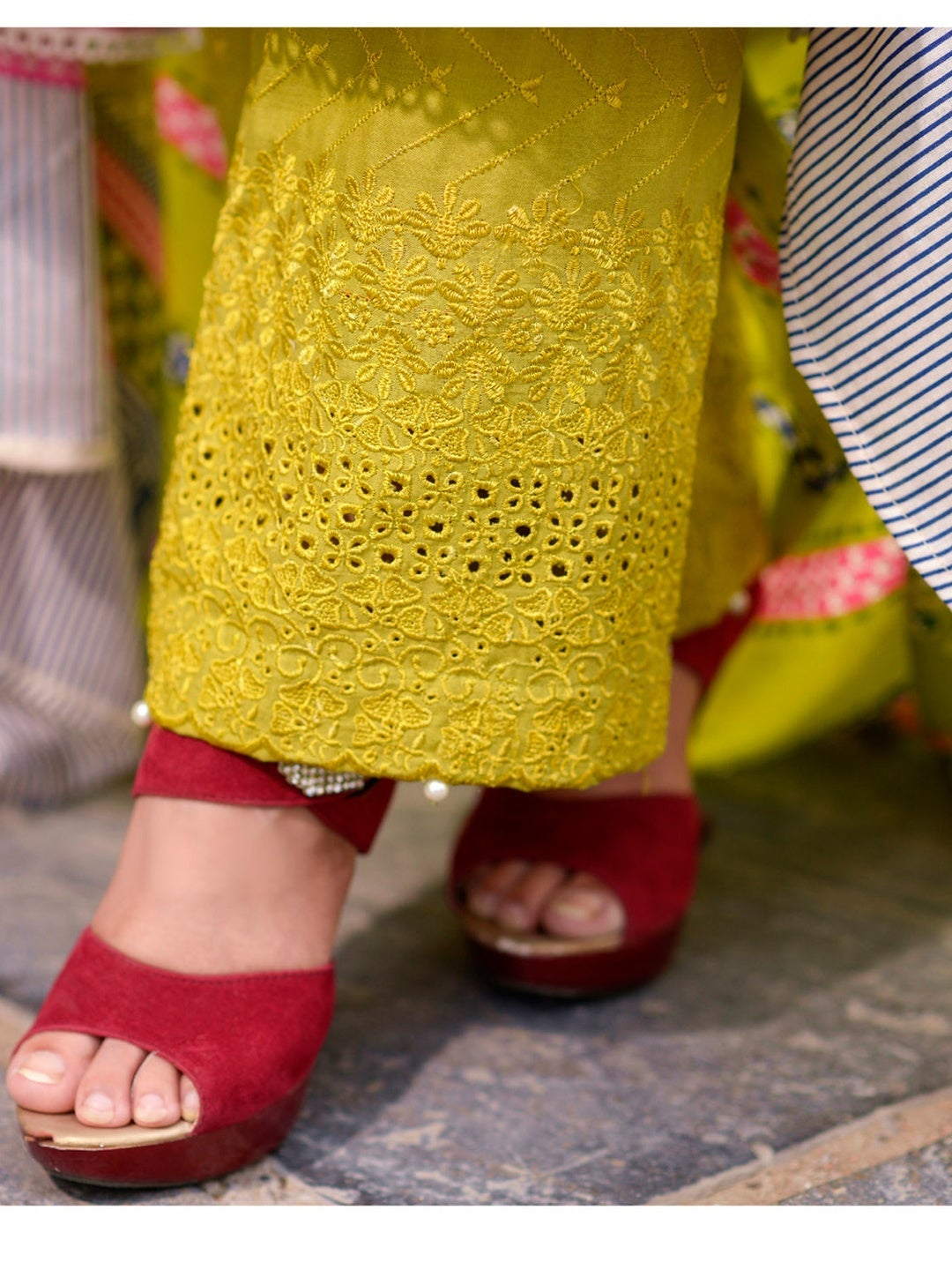 Chikankari Work on Lawn