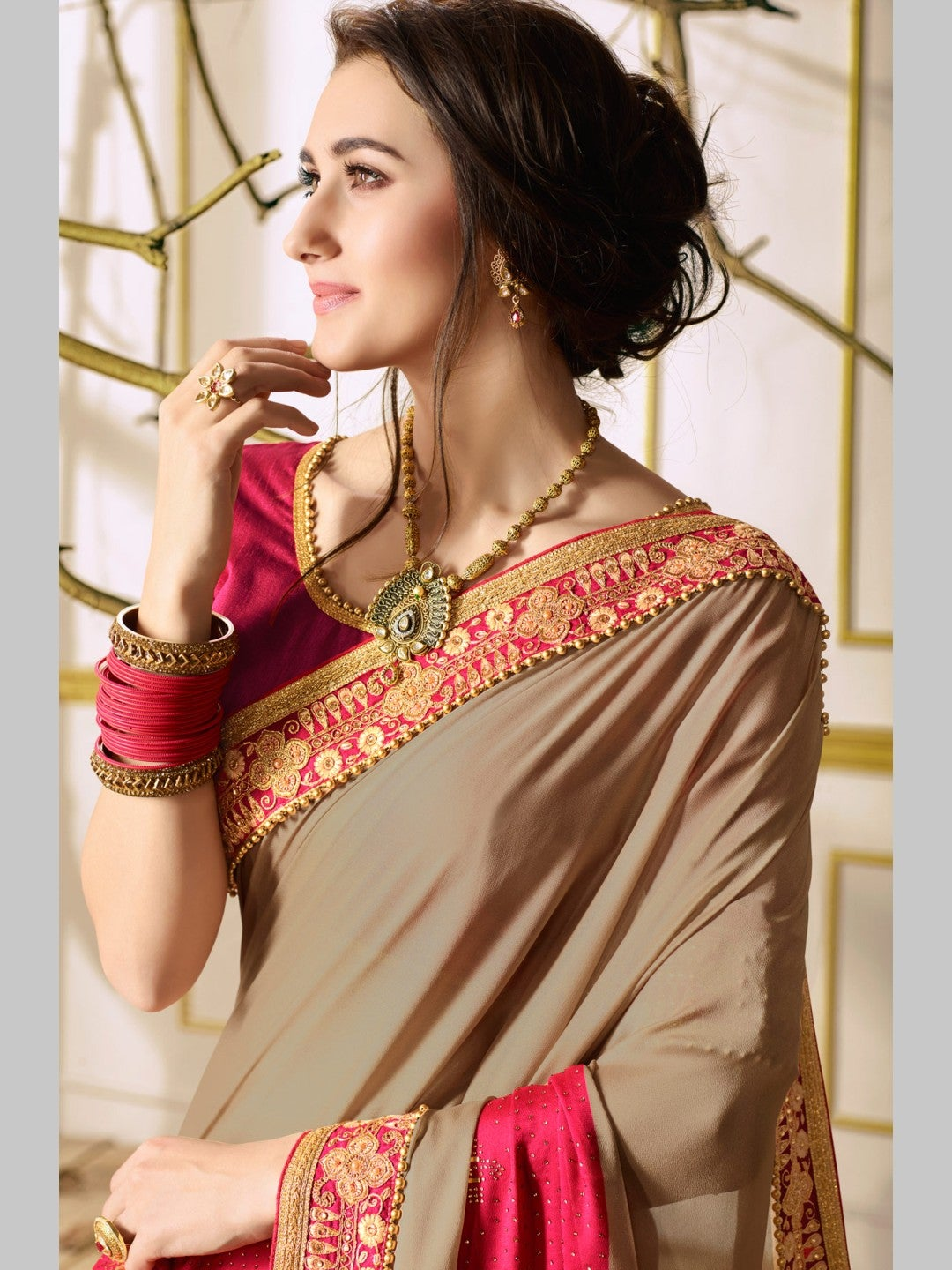Designer Georgette Saree Collection