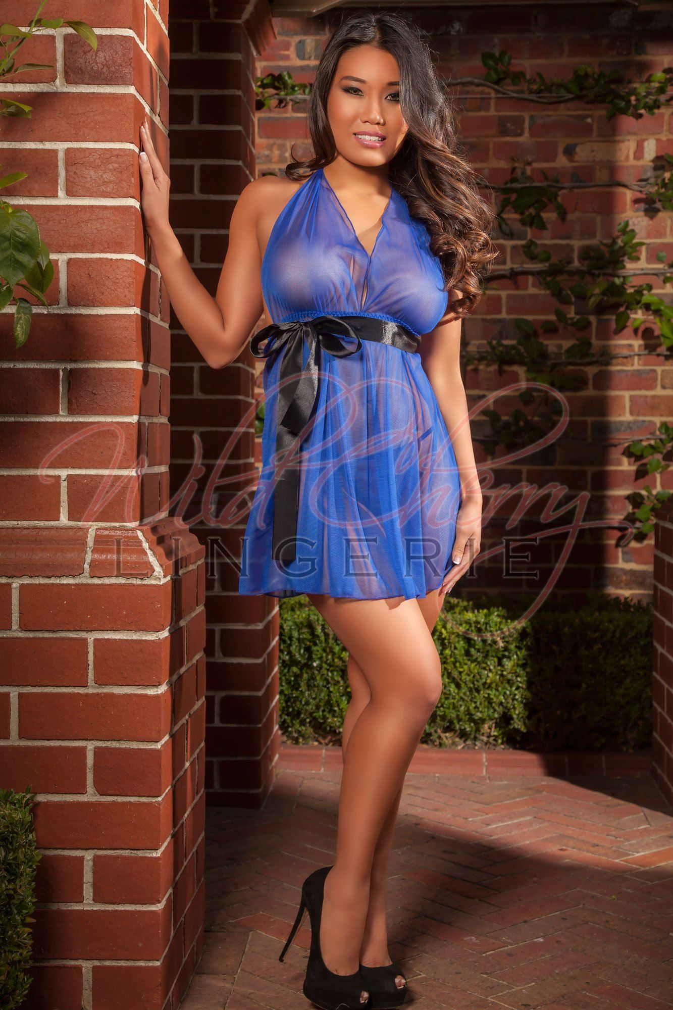 Blue Sheer and Shapely Chemise