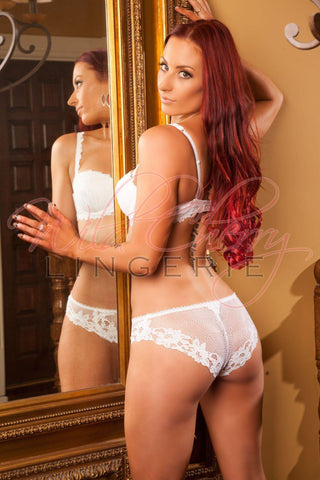 Daniella White Collection Suspender Belt VIPA Lingerie