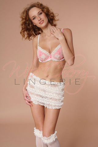 Andrea White Collection Suspender Belt VIPA Lingerie