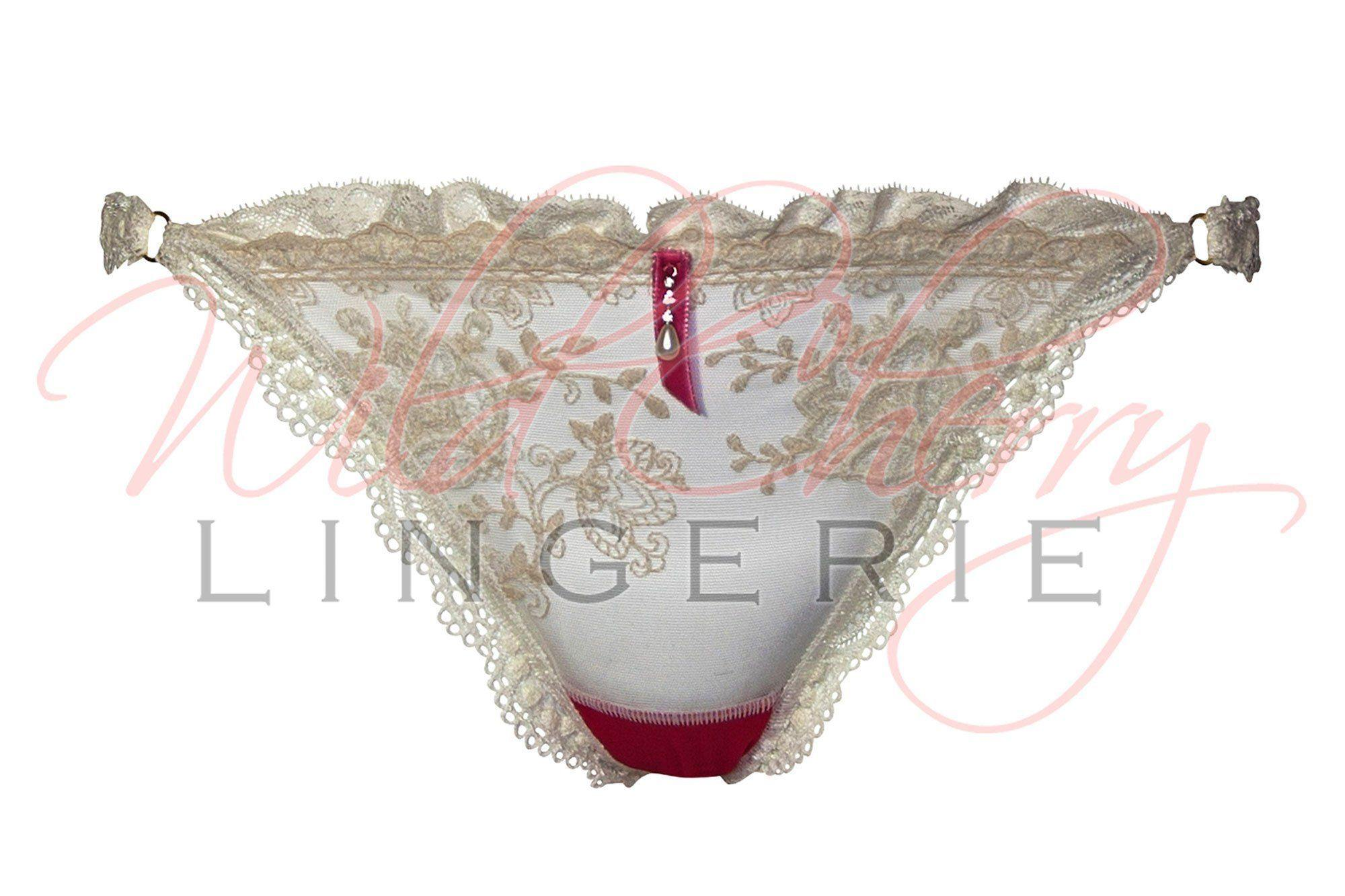 Andrea White Collection G-String Panties VIPA Lingerie, Panties, VIPA Lingerie - Wild Cherry Lingerie