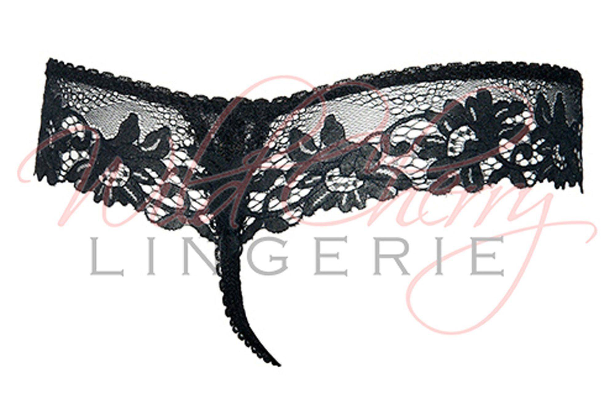 Daniella Black Collection Thong Panties VIPA Lingerie, Panties, VIPA Lingerie - Wild Cherry Lingerie