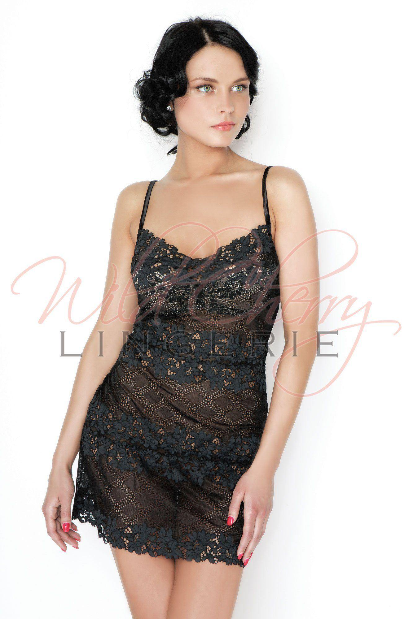Daniella Black Collection Short Babydoll VIPA Lingerie, Sleepwear & Robes, VIPA Lingerie - Wild Cherry Lingerie