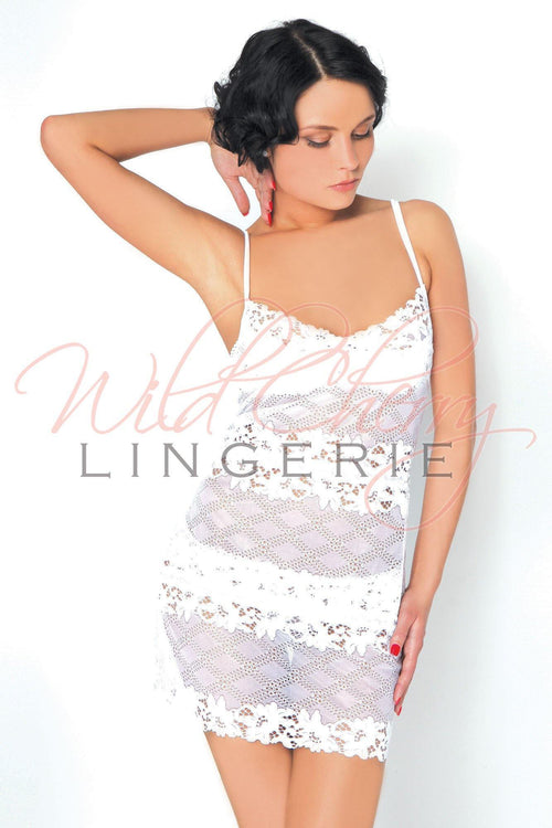 Daniella White Collection Short Babydoll VIPA Lingerie, Sleepwear & Robes, VIPA Lingerie - Wild Cherry Lingerie