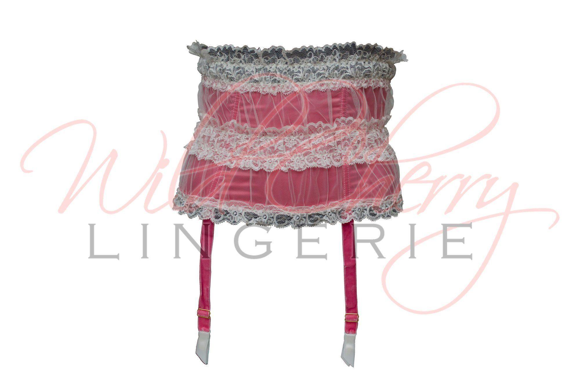 Andrea White Collection Suspender Belt VIPA Lingerie, Suspender Belts & Garter Leg, VIPA Lingerie - Wild Cherry Lingerie