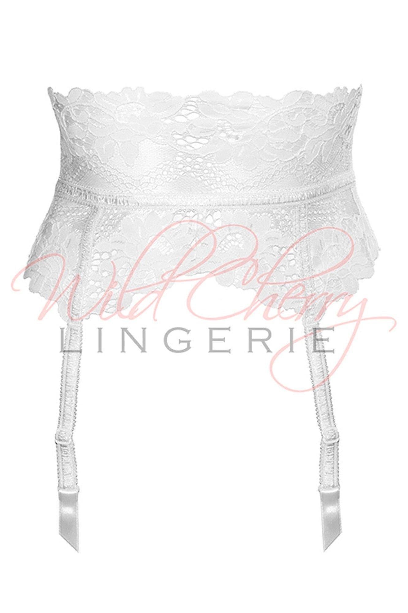 Daniella White Collection Suspender Belt VIPA Lingerie, Suspender Belts & Garter Leg, VIPA Lingerie - Wild Cherry Lingerie