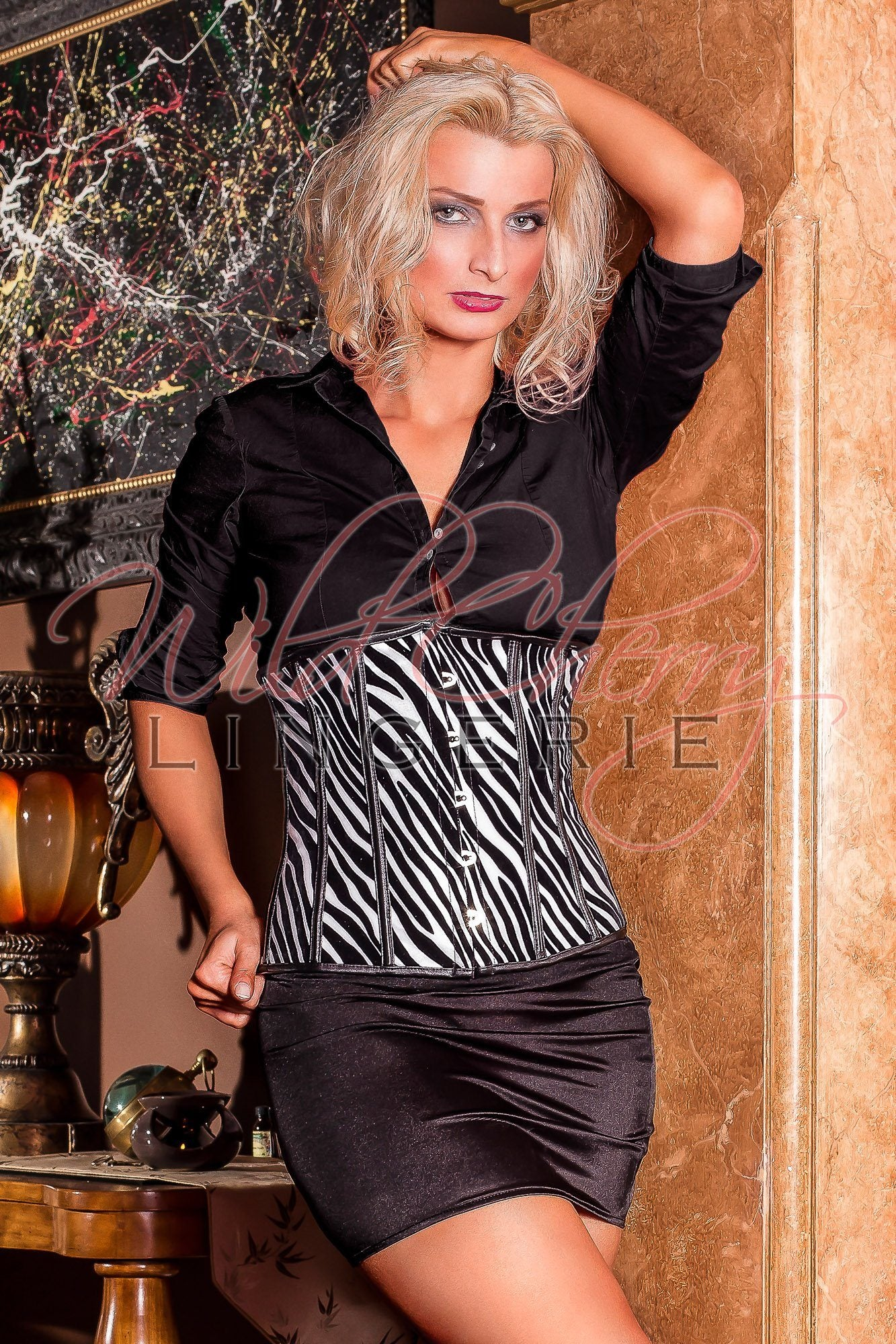 Zebra Striped Underbust Corset