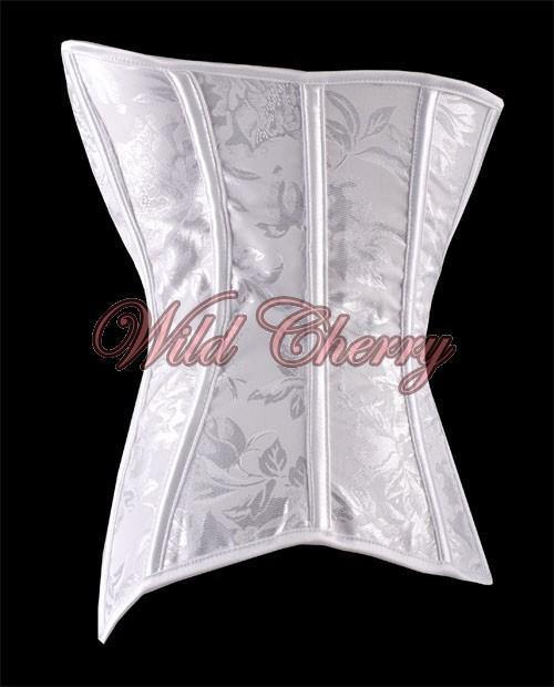 Angelic White Brocade Corset, Corsets & Bustiers, Wild Cherry Lingerie - Wild Cherry Lingerie