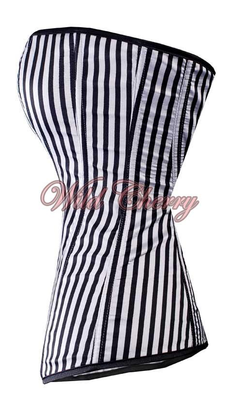Striped Black and White Corset