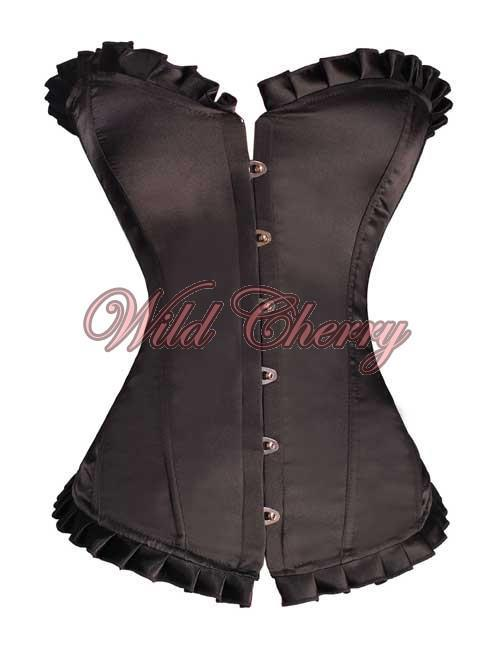 Ruffled Overbust Corset, Corsets & Bustiers, Wild Cherry Lingerie - Wild Cherry Lingerie