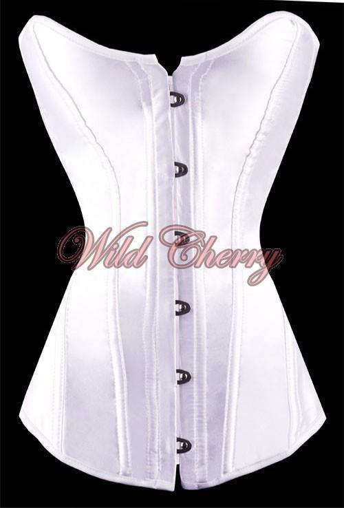 Classic Satin Corset Set, Corsets & Bustiers, Wild Cherry Lingerie - Wild Cherry Lingerie