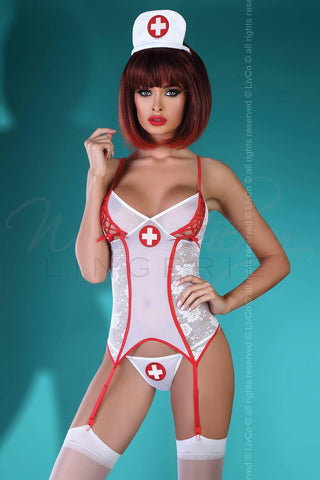 Sexy Nurse Surprise Costume Livia Lingerie