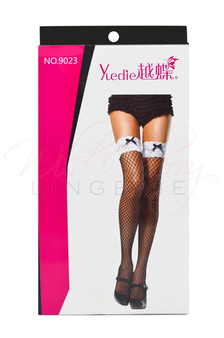 Black and White Bow Stockings