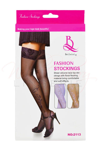 Pinstripe Stockings
