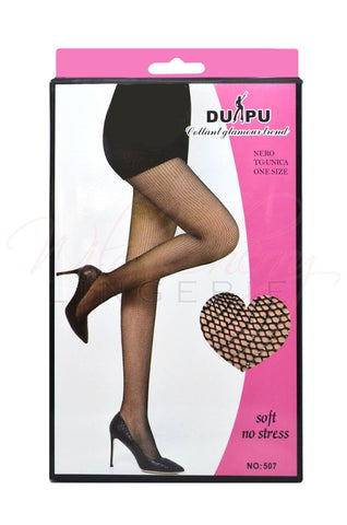 Banded Open Circle Fishnet Stockings