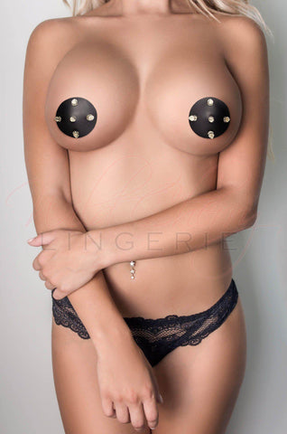 Studded Leather Nipple Covers