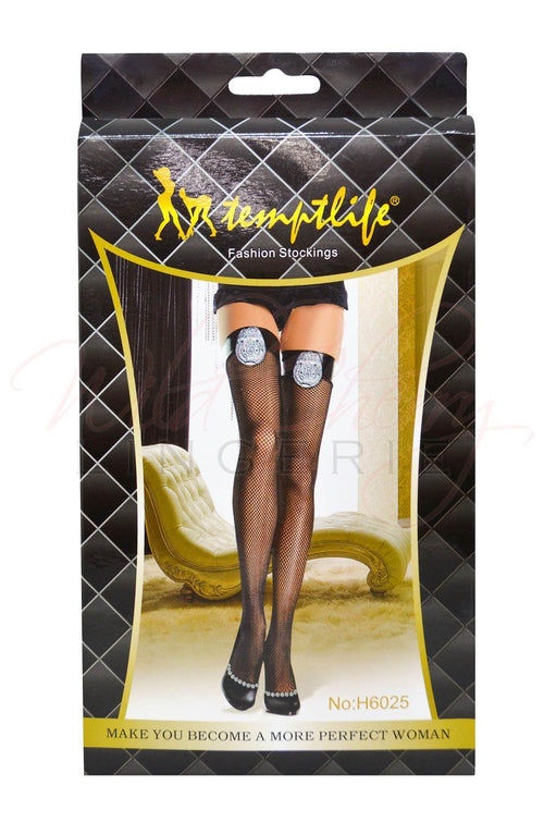 Arrest Me Thigh High Stockings, Legwear, Unbranded - Wild Cherry Lingerie
