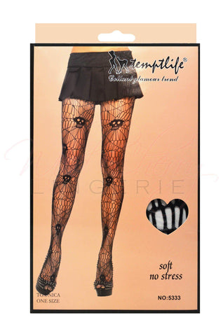 Spider Web Black Thigh Highs