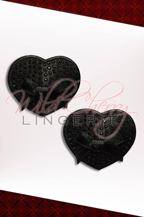 Black Elegance 3D Nipple Covers, Accessories, Wild Cherry Lingerie - Wild Cherry Lingerie
