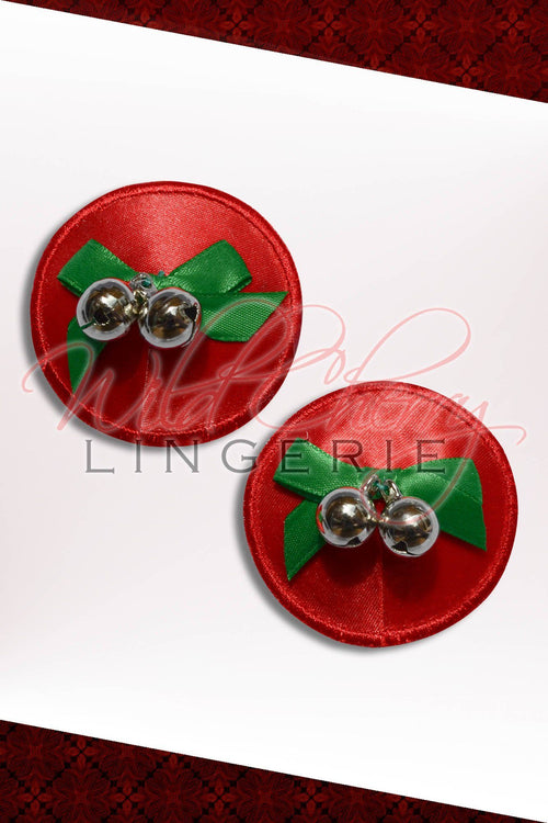 Jingle Bells! 3D Nipple Covers, Accessories, Wild Cherry Lingerie - Wild Cherry Lingerie