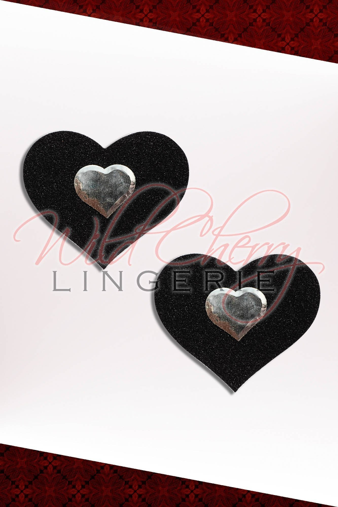 Double Heart Nipple Covers, Accessories, Wild Cherry Lingerie - Wild Cherry Lingerie