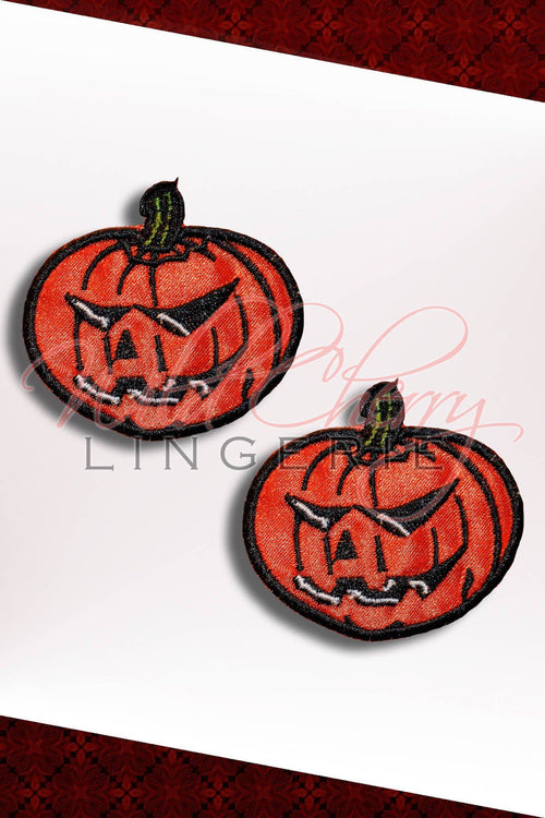 Jack O'Lantern Nipple Covers, Accessories, Wild Cherry Lingerie - Wild Cherry Lingerie