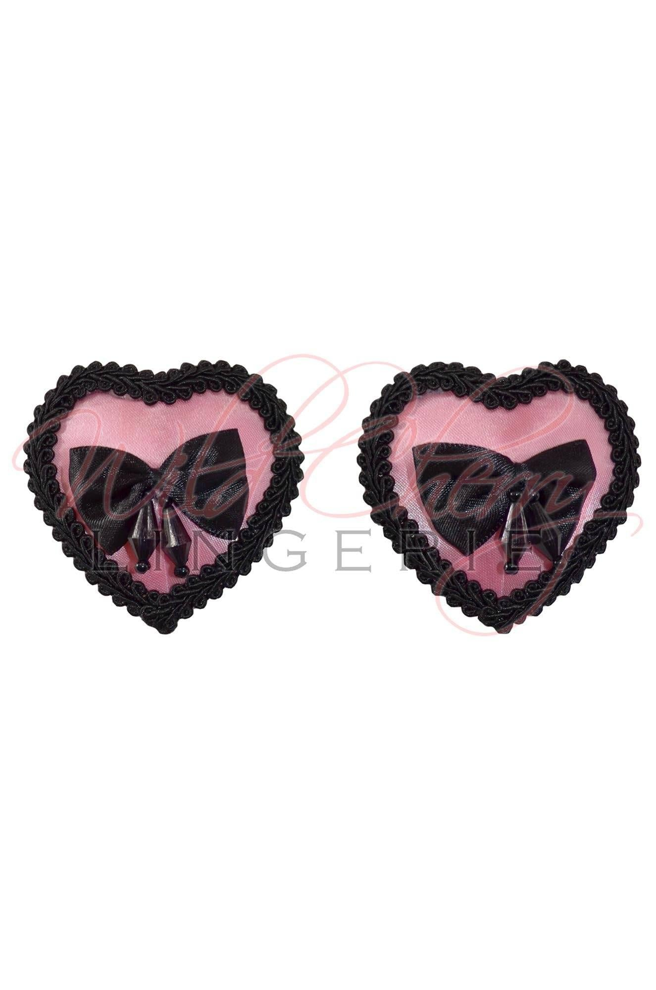 Heart and Ribbon Nipple Covers, Accessories, Wild Cherry Lingerie - Wild Cherry Lingerie