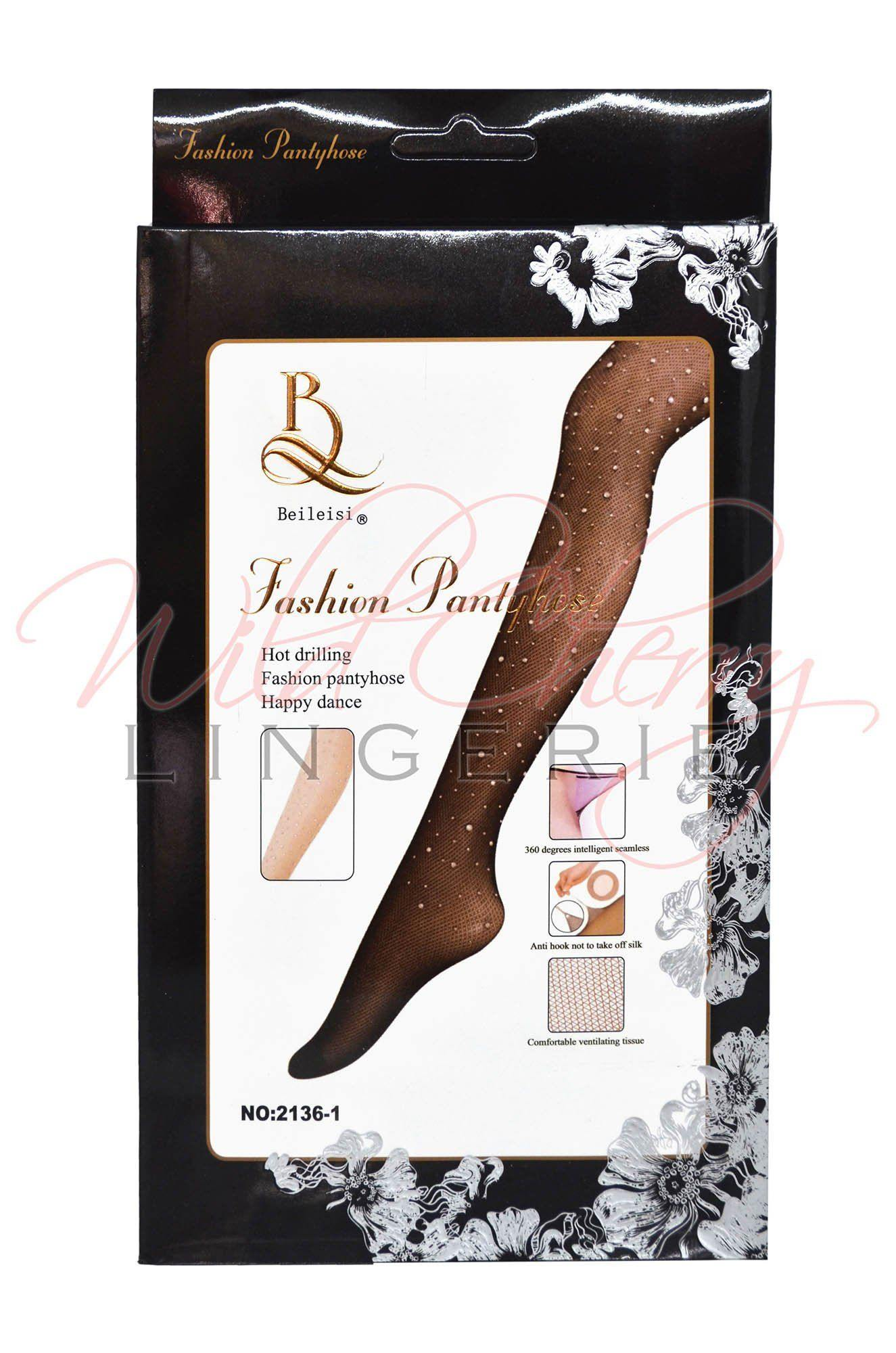 Jewelled  Up Pantyhose, Legwear, Unbranded - Wild Cherry Lingerie