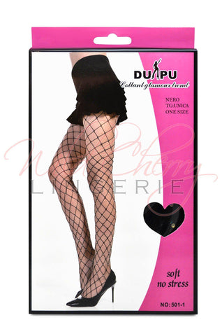 Large Holes Diamond Pantyhose