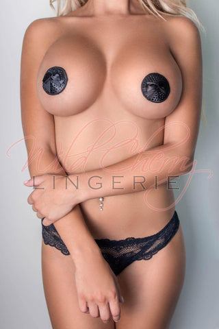 Red Rosette Nipple Covers