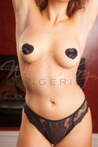 Black Elegance 3D Nipple Covers