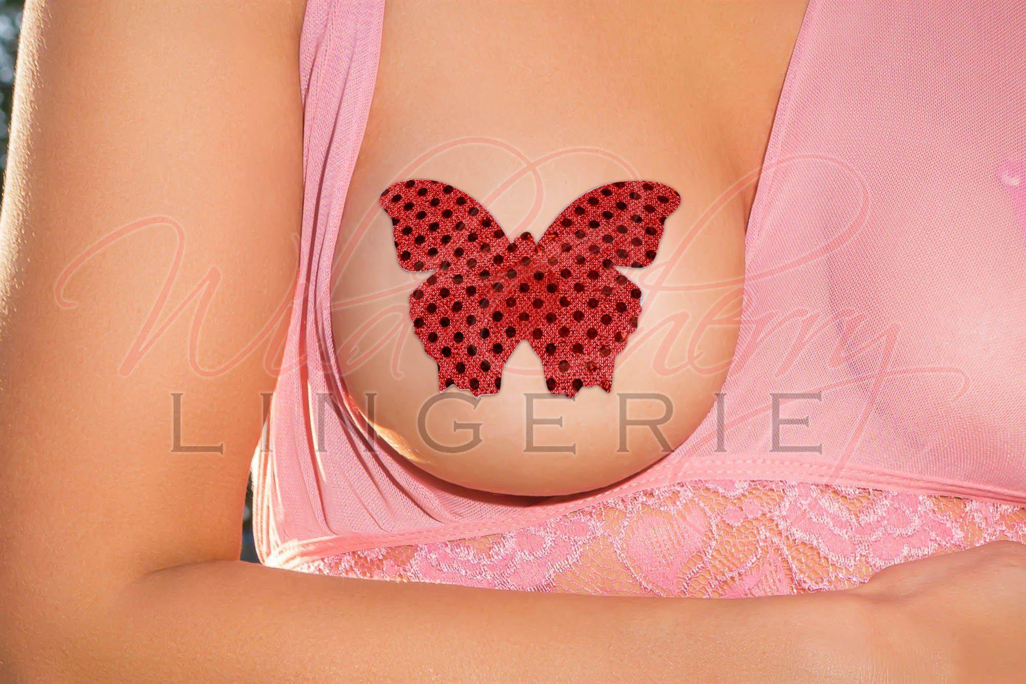 Butterfly Nipple Covers, Accessories, Wild Cherry Lingerie - Wild Cherry Lingerie