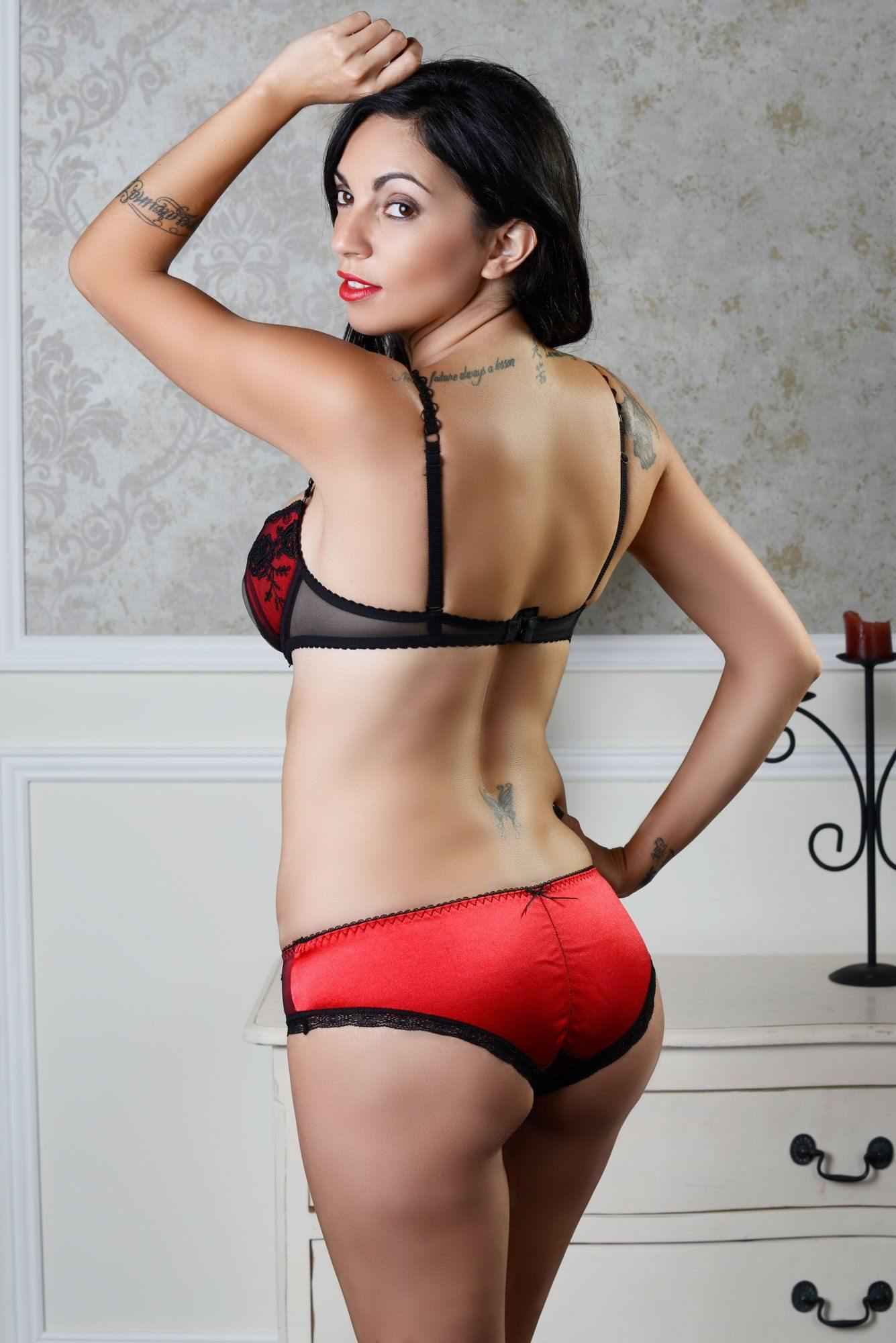 Glamour Red Push Up Bra