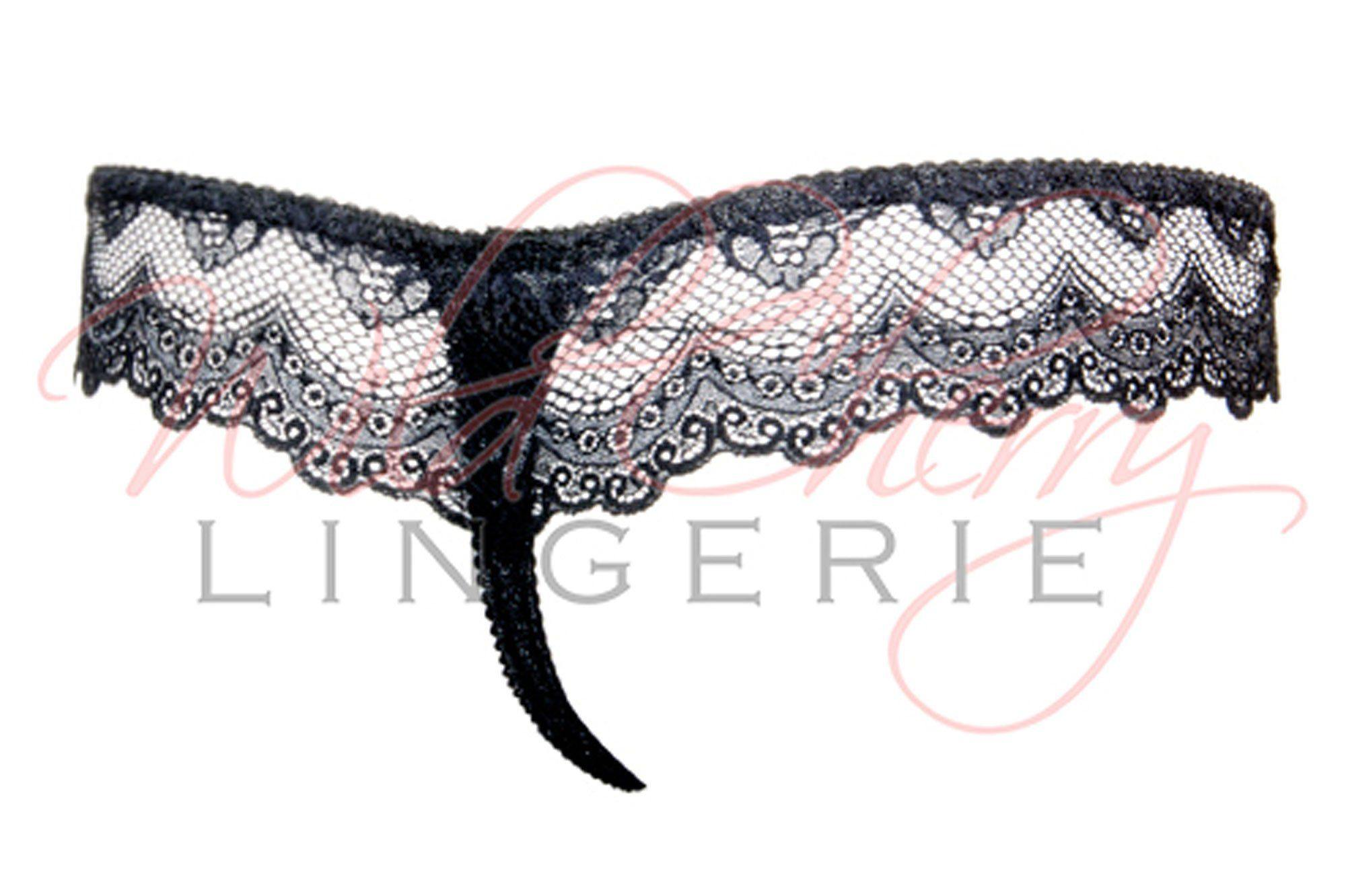 Santa Black Collection Thong Panty VIPA Lingerie, Panties, VIPA Lingerie - Wild Cherry Lingerie