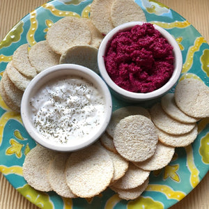 Casabi Crackers - Garlic - Naturally Gluten-Free, Vegan & Paleo