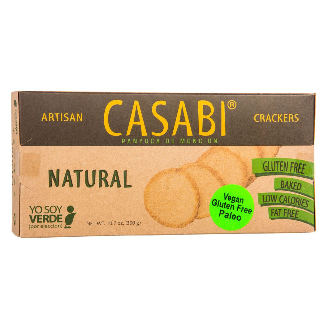 Casabi Crackers - Plain - Naturally Gluten-Free, Vegan & Paleo