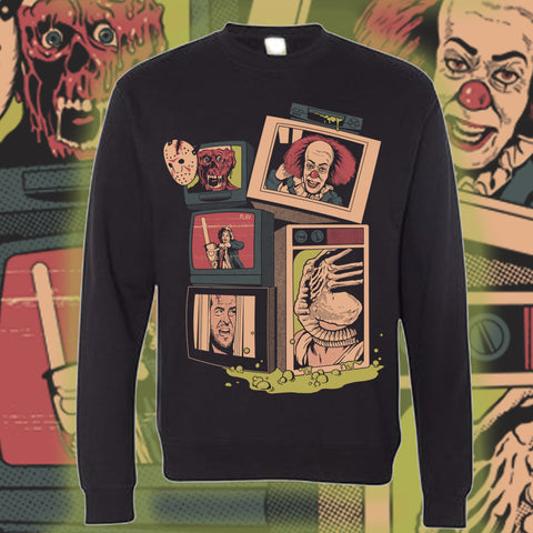 """Revenge of Grab the Popcorn"" Crewneck Sweatshirt"