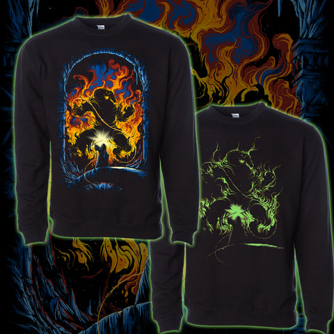 """Bridge of Khazad-dûm""Glow in the Dark Crew Neck Sweater"