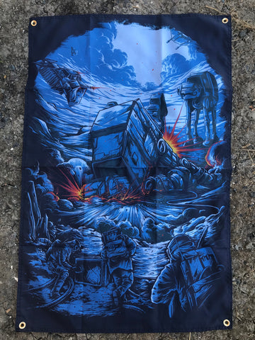 The Battle on Hoth 24x36 Flag