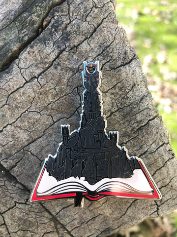 The pages of Barad Dur Enamel Pin