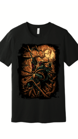 """The Bounty Hunter's Escape Mens Black T Shirt"